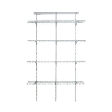 Closetmaid 3 Foot Wire Utility Shelf Closetmaid Shelftrack 80 In H X 48 In W X 16 In D White