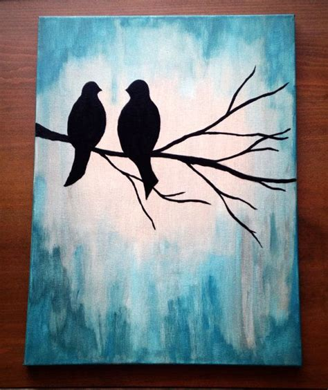 acrylic painting gift ideas 25 best ideas about bird canvas paintings on
