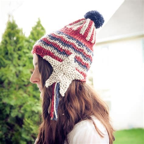 Loom Knit Patriotic Earflap Hat Pattern This Moment Is
