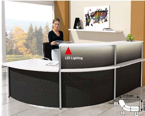 metal reception desk metal reception desk deco 6 office reality