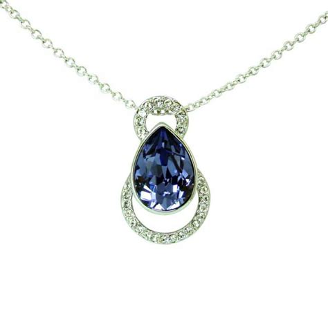 Wedding Swarovski Necklace Clear Or Voilet