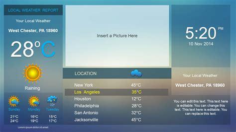 weather dashboard powerpoint template slidemodel