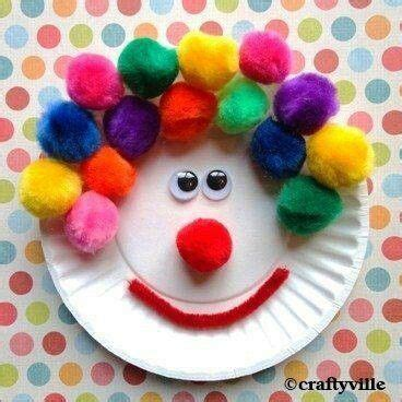 clown crafts for clown paper plate craft make with
