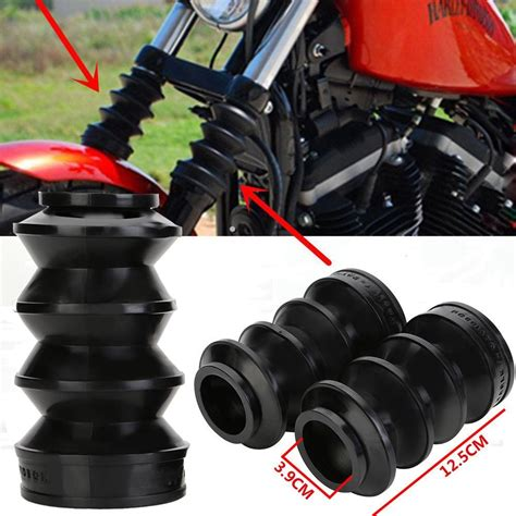 rubber st express new motorcycle black 39mm front fork rubber covers gaiters