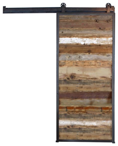reclaimed wood barn door rustic interior doors by