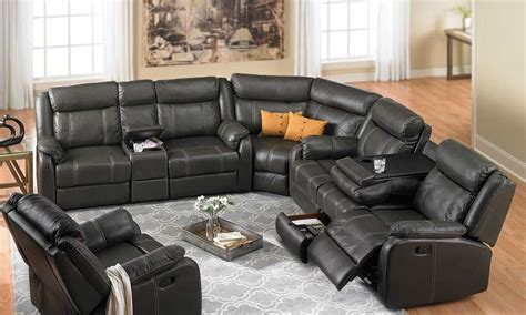 sectional sofas reclining cache reclining sectional sofa haynes furniture