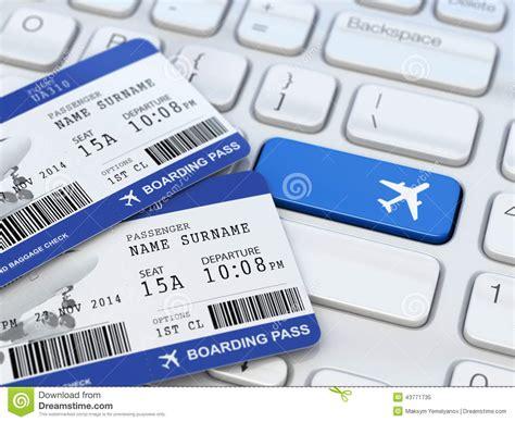ticket booking ticket booking boarding pass on laptop keyboard
