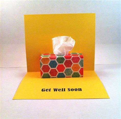 Get Well Soon Pop Up Card Tissue Box Pop Up By