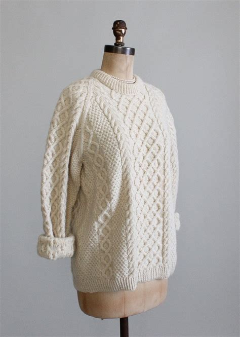 fisherman cable knit sweater vintage cable knit fisherman sweater raleigh vintage