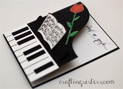 how to make a musical card just a note card by craftingsisters at