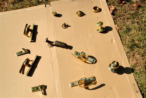 spray painting hardware updating brass hardware handles with spray paint