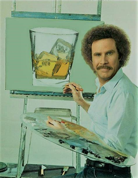 bob ross painting poster diageo if you re going to do it in style all