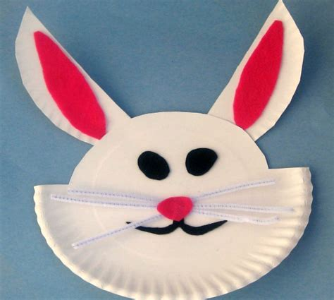 easy paper crafts for children easy crafts paper plate easter bunny craft