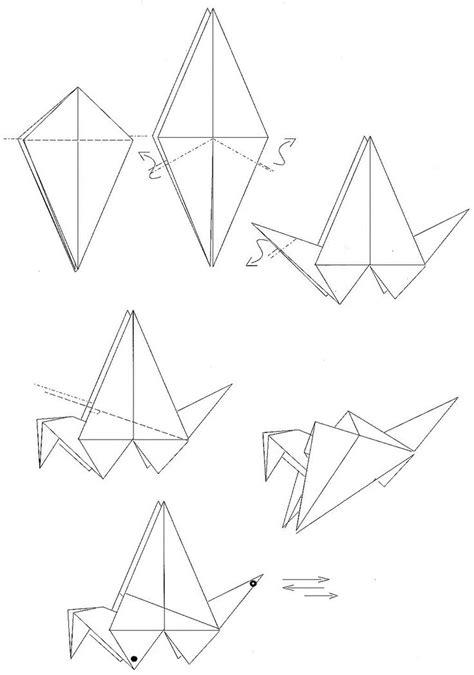 origami plans plan origami grue qui bat ailes oiseau origami