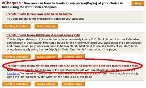 make icici credit card payment paying credit card from your bank electronically 183 sandipb net