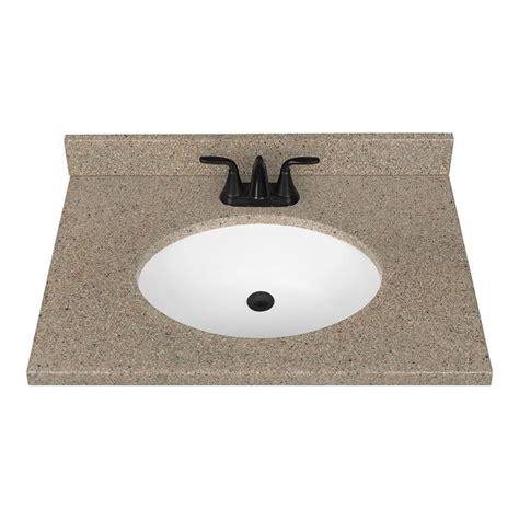 bathroom sink vanity top shop nutmeg solid surface integral bathroom vanity top