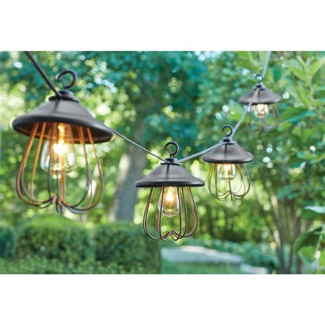 decorative patio string lights hton bay 8 light decorative bronzed patio cafe string