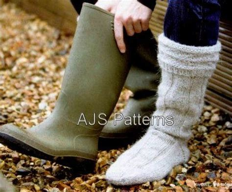 aran sock knitting pattern pdf knitting pattern for mens aran wellington boot socks