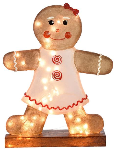 outdoor illuminated decorations illuminated gingerbread decoration traditional