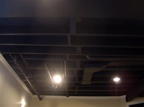 spray painter for ceiling cool home creations finishing basement black ceiling