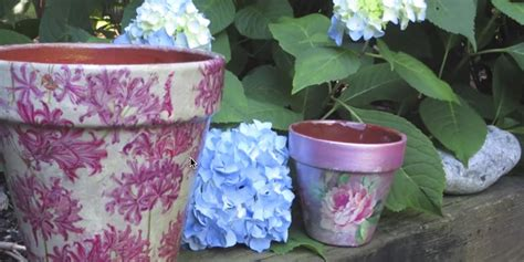 decoupage for outdoors how to decoupage and weatherproof clay pots they re