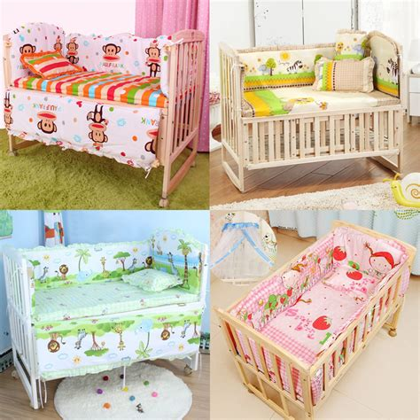 baby crib bedding set with bumper 5pcs baby crib bedding set bedding set 100x58cm