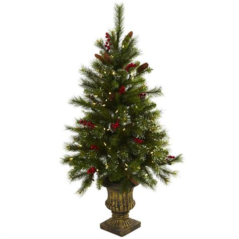 berries lights nearly 4 ft artificial tree with