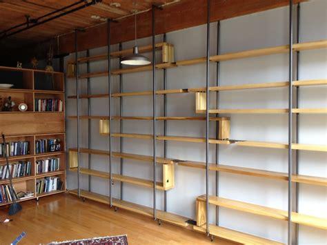 custom wood shelves handmade wood and steel floating book shelves by object a