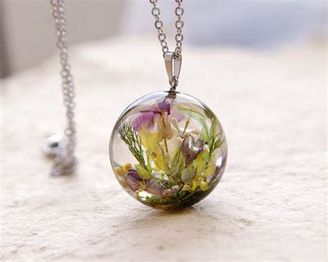 how to make resin jewelry with flowers real flowers necklace orb resin jewelry unique orb