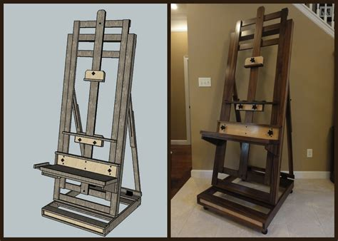 h h woodworking painting easel the wood whisperer