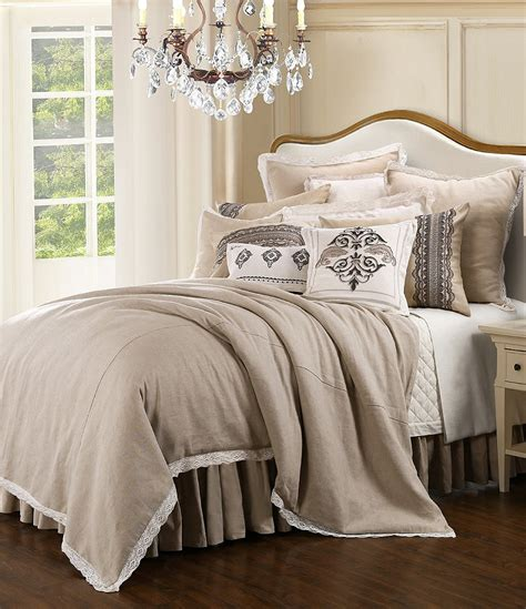 hiend accents linen and lace comforter set