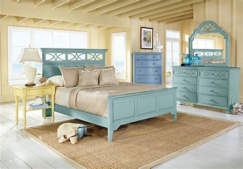 seaside bedroom furniture shop for a seaside king green 5pc panel