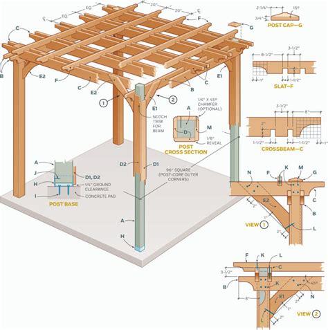 pergola blueprints free comment cr 233 er une pergola en bois