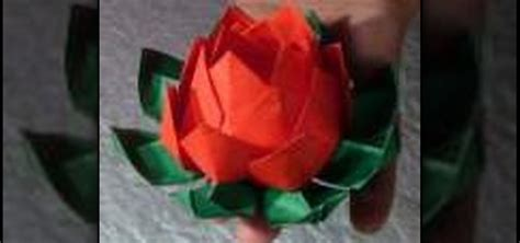 how to make origami lotus flower how to make an origami lotus flower 171 origami wonderhowto