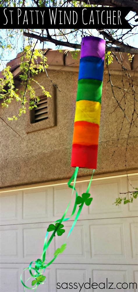 crafts with paper towel rainbow paper towel wind catcher craft for crafty