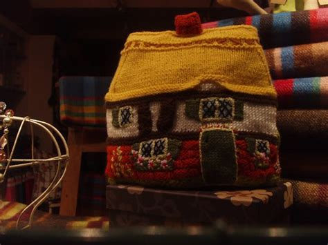 the knit house the knitted house a beautiful knitted house in a shop