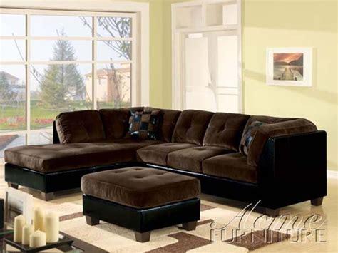 black microfiber sectional sofa deltona ultra plush sectional sofa in brown microfiber and