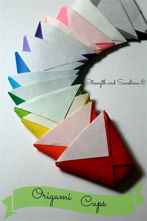 origami paper cup the origami cup strength and