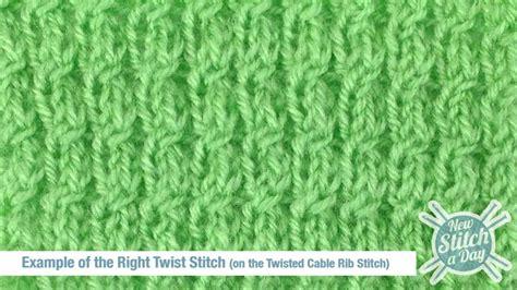 right twist knit stitch how to knit the right twist stitch new stitch a day