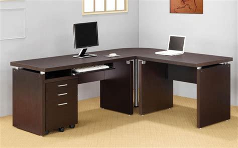 elburn brown l shaped modern computer desk modern computer desk l shaped 28 images furniture l