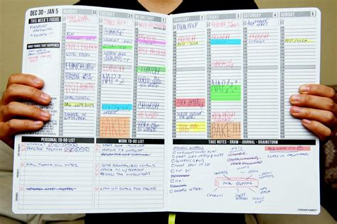 planning a for work planner on the run