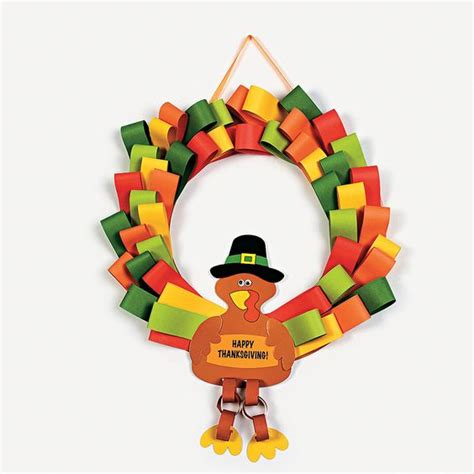 thanksgiving craft kits for turkey wreath wreaths crafts and craft kits on