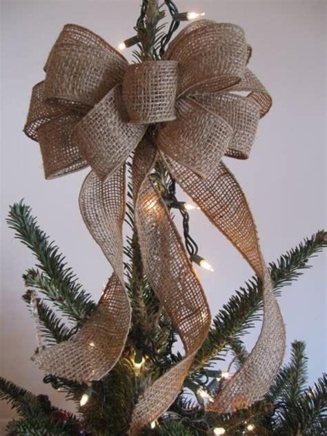 bows for tree how to make a burlap bow for tree topper