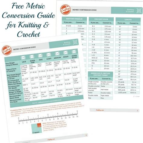 knitting needle conversion imperial to metric 129 best images about metric conversion on
