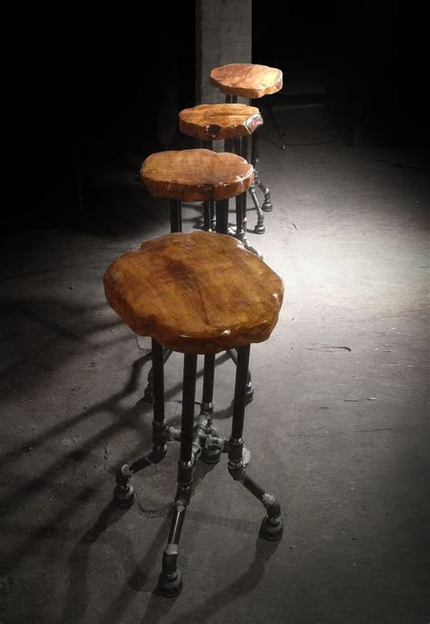 Custom Wood Bar Stools by 1000 Ideas About Reclaimed Wood Tables On