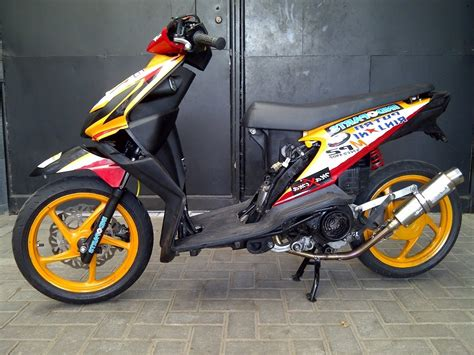 Gambar Modifikasi Motor Honda Beat by 50 Gambar Modifikasi Honda Beat Gaya Road Race Terbaru