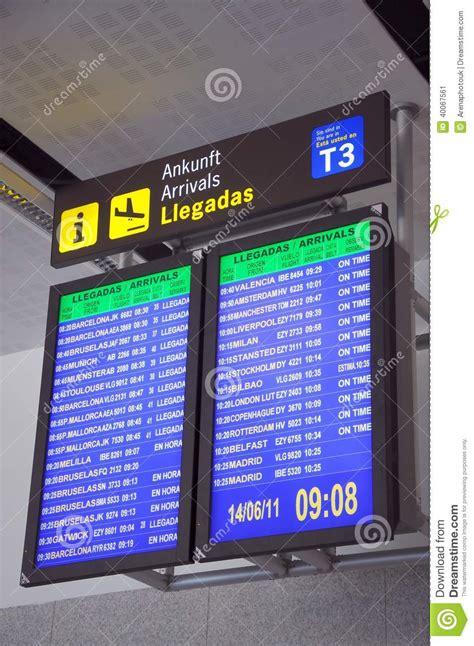 aeropuerto de m laga salidas monitores de las llegadas del vuelo aeropuerto de m 225 laga
