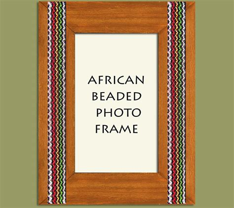 beaded picture frames beaded photo frame brown stripe x 2