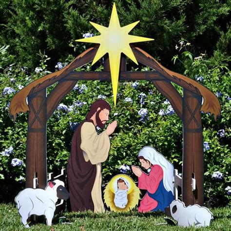 nativity decorations outdoor best 25 outdoor nativity sets ideas on