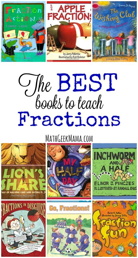 fraction picture books the best books to teach fractions to